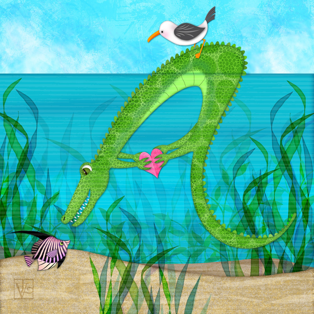 A is for Alligator by Valerie Lesiak