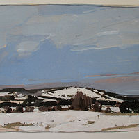 Acrylic painting Richardson's Hill, January  by Harry Stooshinoff