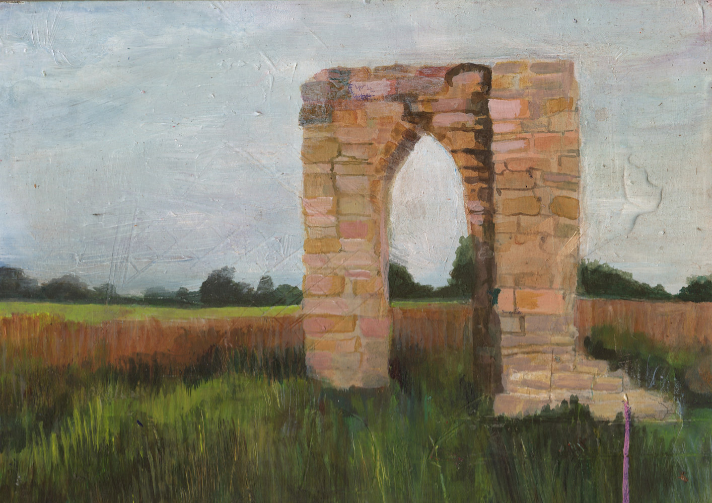 Acrylic painting arch by Joel Abramson