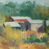 "Leo's Farm, oil on canvas, 18"" x 24"" by Susan Horn"