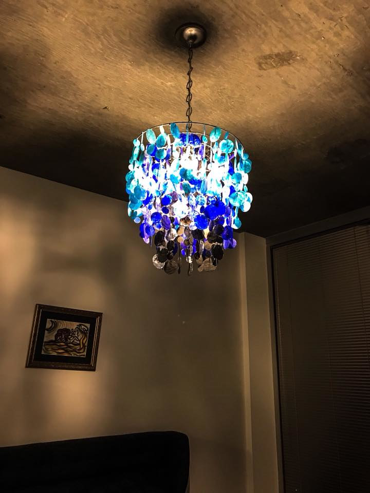 painted shells chandelier by Ann Marie  Vancas