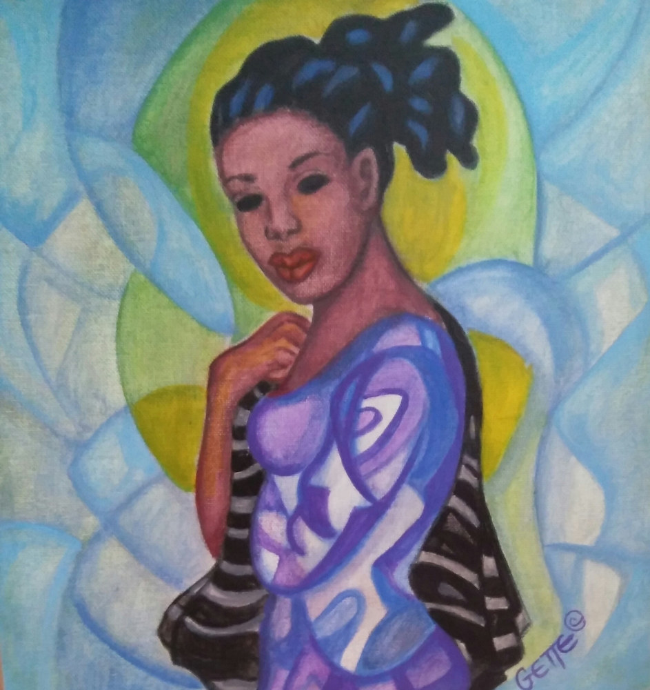 Acrylic painting YOUTH #2 by Georgette  Jones