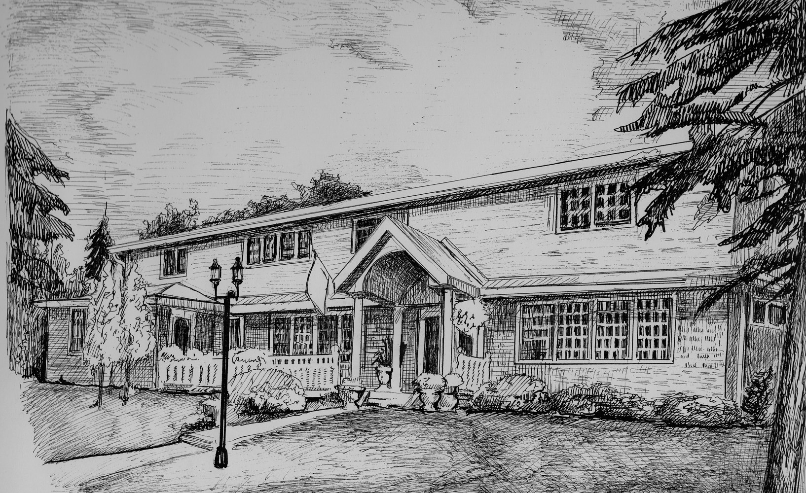 Drawing Bed & Breakfast by Joel Abramson