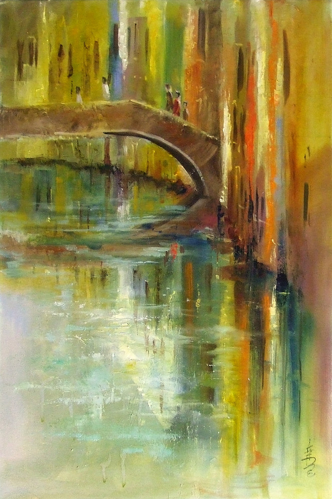 Reflections of Venice oil on canvas 20x30 by Anne Farrall Doyle