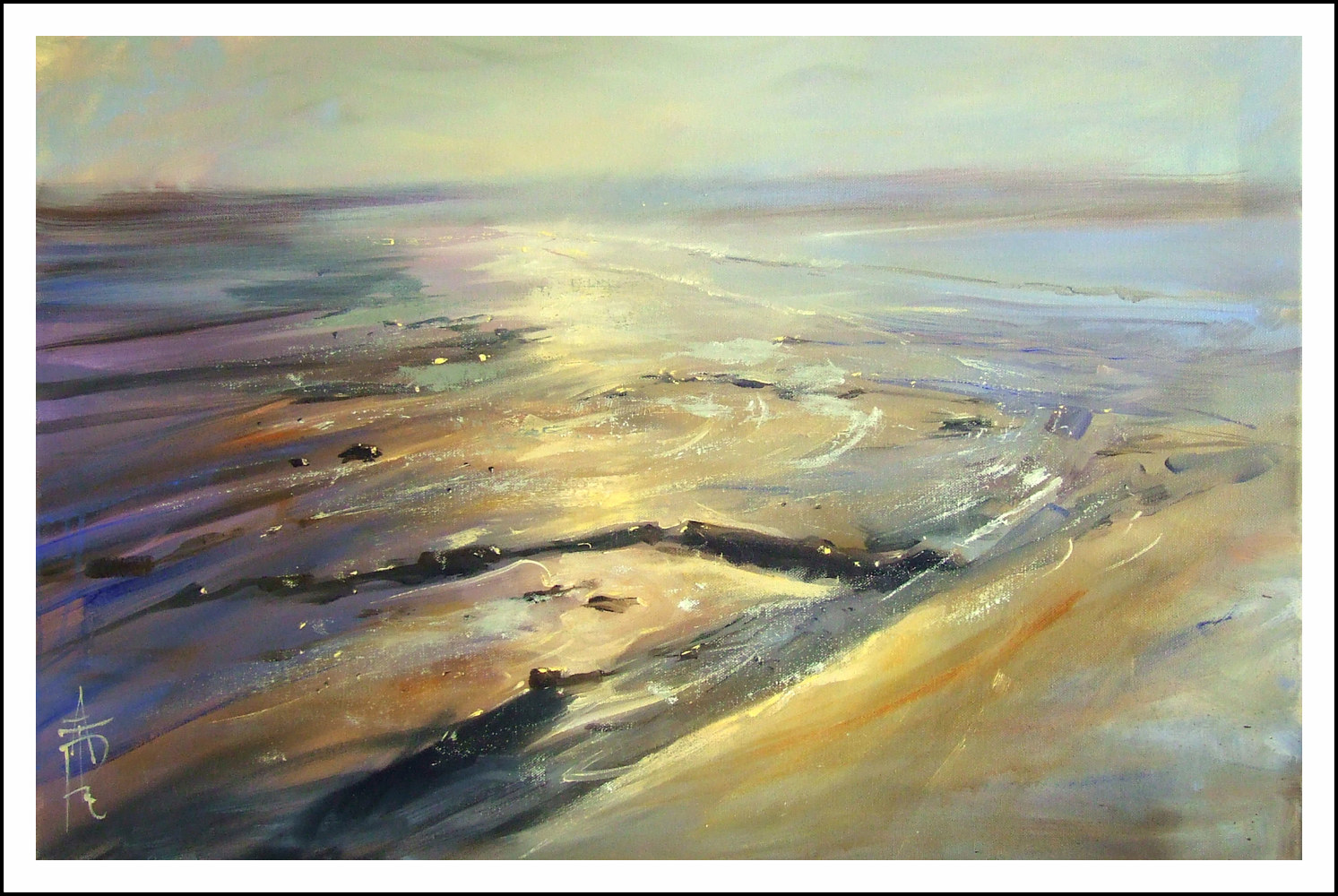 Cerulean Sands, 20x30, oil on canvas. by Anne Farrall Doyle