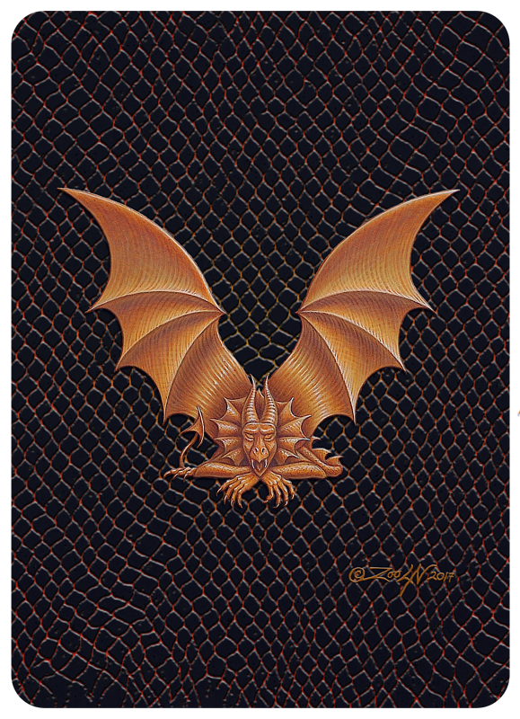 "Print Dragon V, gold 5x7"" by Sue Ellen Brown"