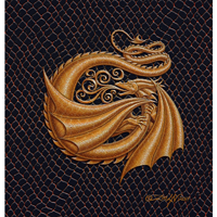 "Print Dragon G, gold 5x7"" by Sue Ellen Brown"
