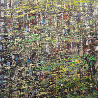 Acrylic painting Rhapsody in Green by David Tycho