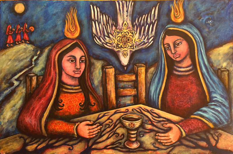 Acrylic painting Wisdom's Table by Emily K. Grieves