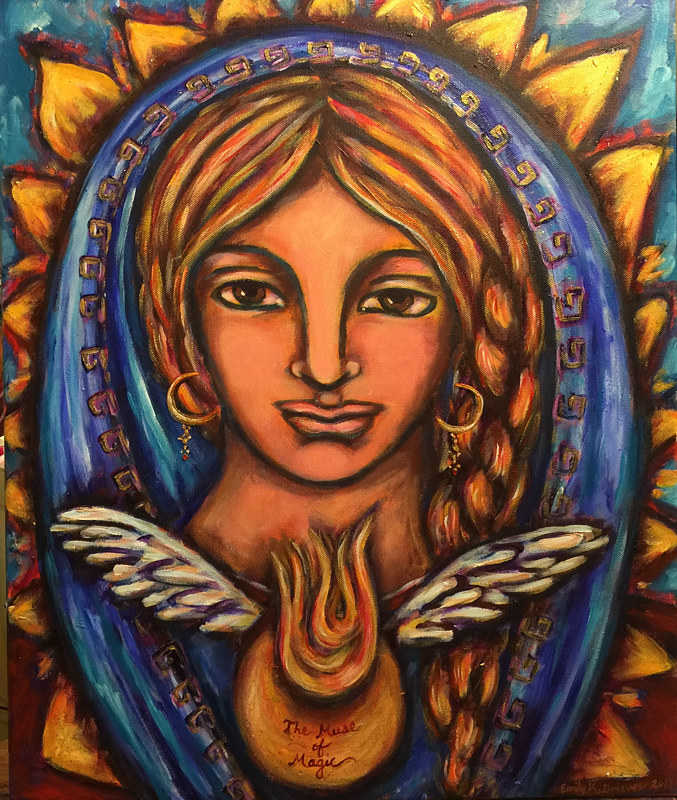 Acrylic painting The Muse of Magic by Emily K. Grieves