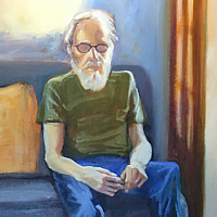 Painting The Teacher (Tony Walholm)  by Pamela Neswald