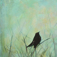 Acrylic painting Hush by Sally Adams