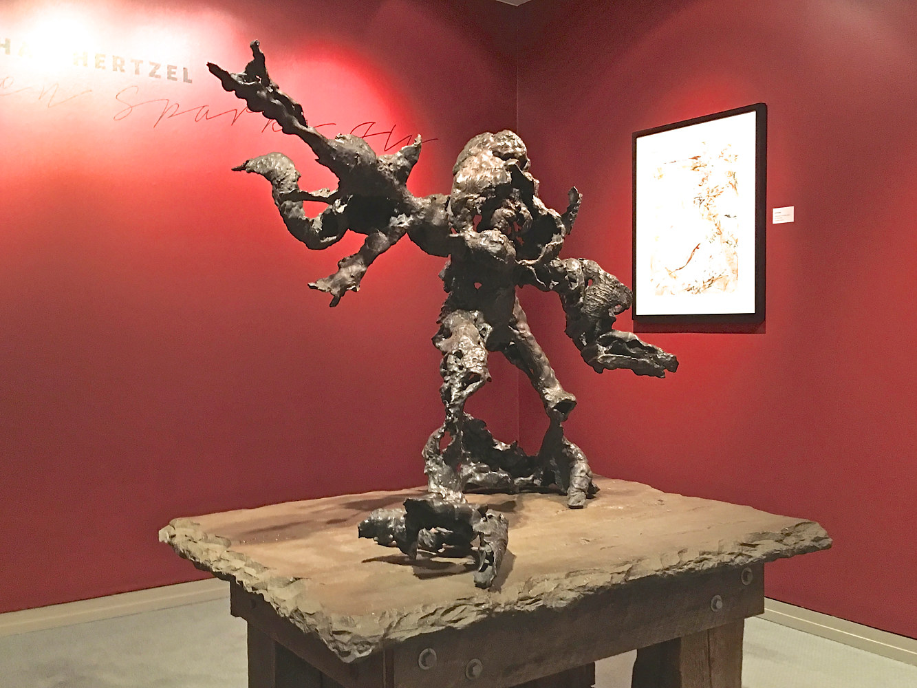 Adam Splitting; When Sparks Fly, Michener Art Museum, PA. by Jonathan  Hertzel