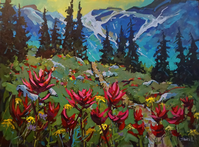 Meadow Hike Acrylic   30x40x1.5      2017 by Brian  Buckrell