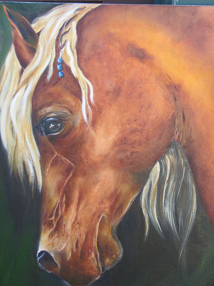 Oil painting Copper Penny  by Randi Evans