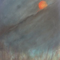 "Drawing Louisianna moonrise 22""x30"" by Lisa Tomczeszyn"