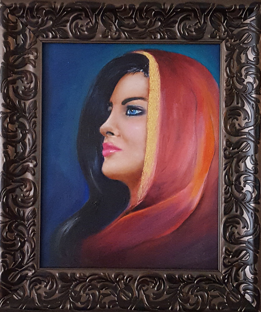 Oil painting Princess by Randi Evans