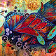 Acrylic painting Metamorphosis by Simona Zac