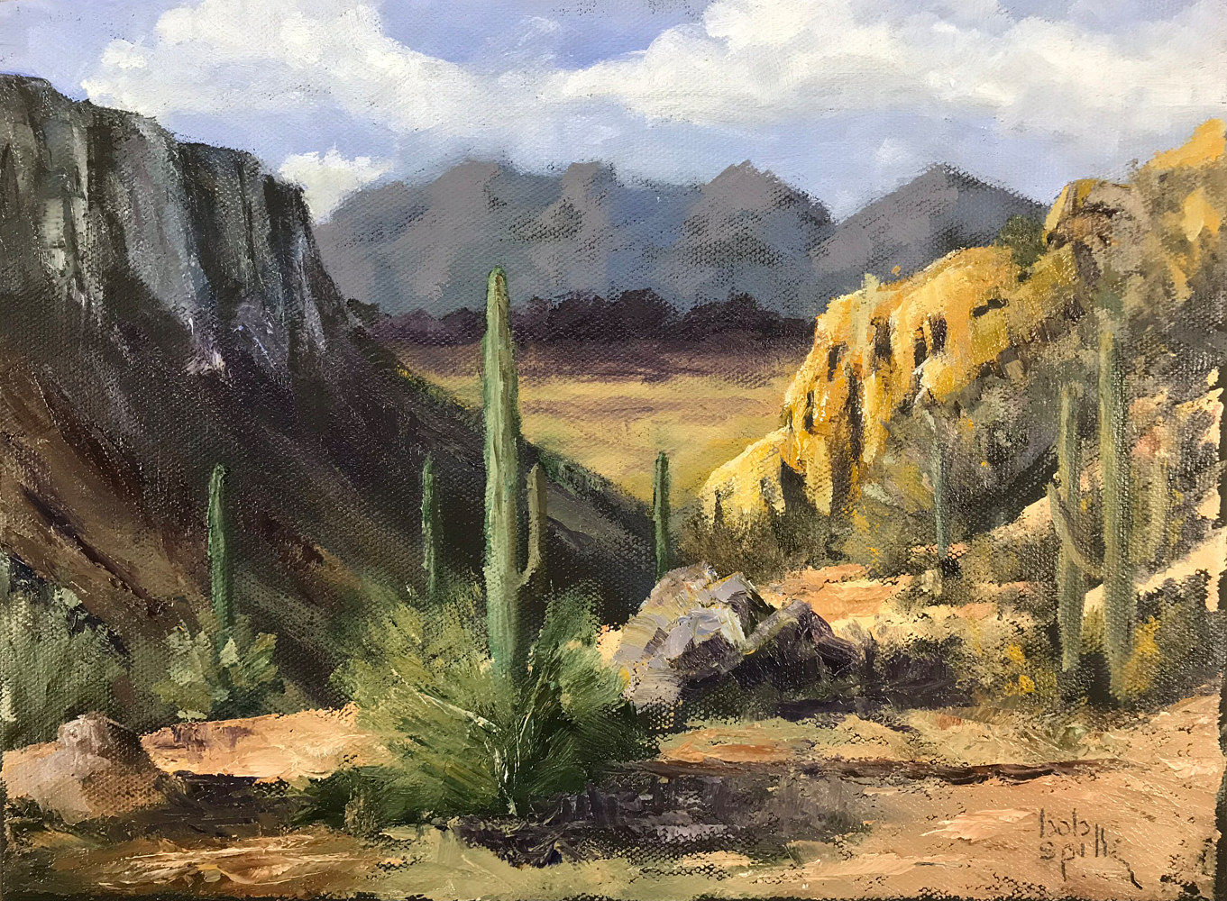 Oil painting Sabino Splendor by Bob Spille