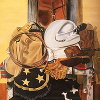 "Oil painting ""The Brushpopper"" by Gary Cheatham"