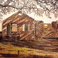 "Oil painting ""Homestead Memories"" by Gary Cheatham"