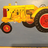 "Oil painting ""Ole Yella"" by Gary Cheatham"