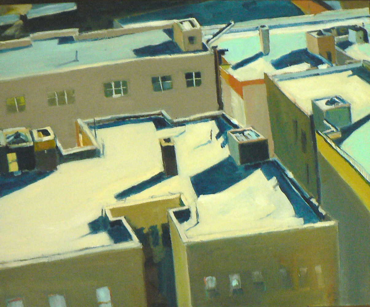 Aqua Rooftops; Studio Window View by Michael louis Johnson