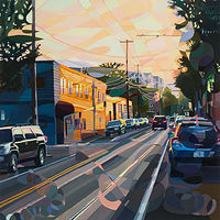 Oil painting Sunny Vox by Shawn Demarest