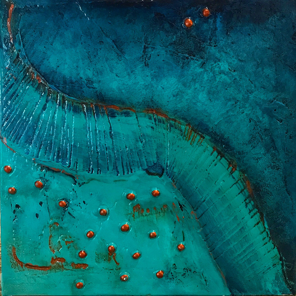 Acrylic painting Aqua Dream by Ginger Thomas