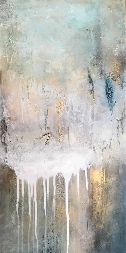 Acrylic painting Into the Mist by Ginger Thomas