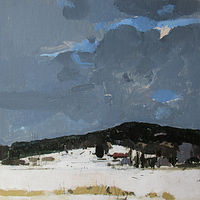 Acrylic painting Timber Hill, February 1 by Harry Stooshinoff