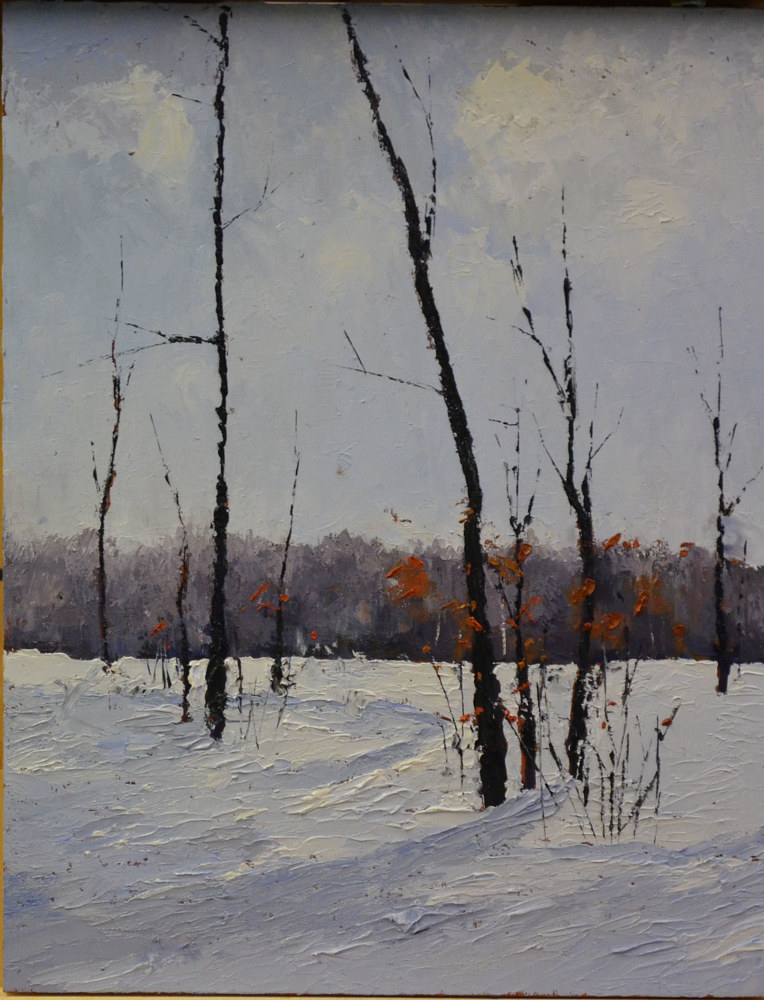 Winter Music; 18 x 14; oil on cradled gallery wood panel; 10-0118 by Patricia Savoie