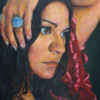 Acrylic painting Amy by David Yawman