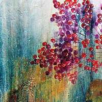 Oil painting Time of Berries II by Liba Labik