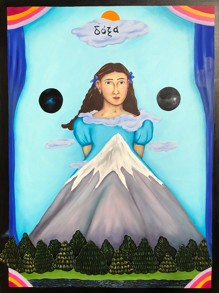 Oil painting Gloria in the Magic Land by Armando Huerta