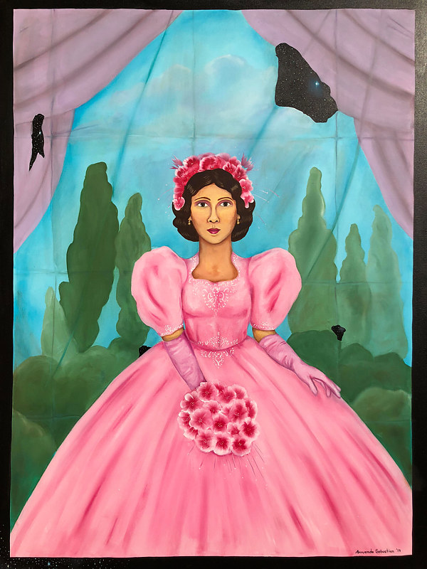 Oil painting Quinceanera XV by Armando Huerta