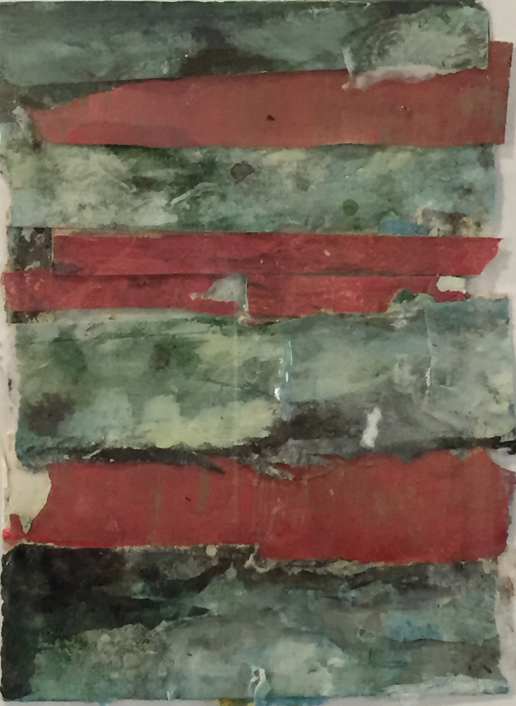 Mixed-media artwork Showing My Stripes #9 by Guy Grogan