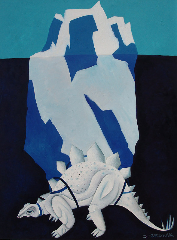 Oil painting Iceberg by Jane  Zednik