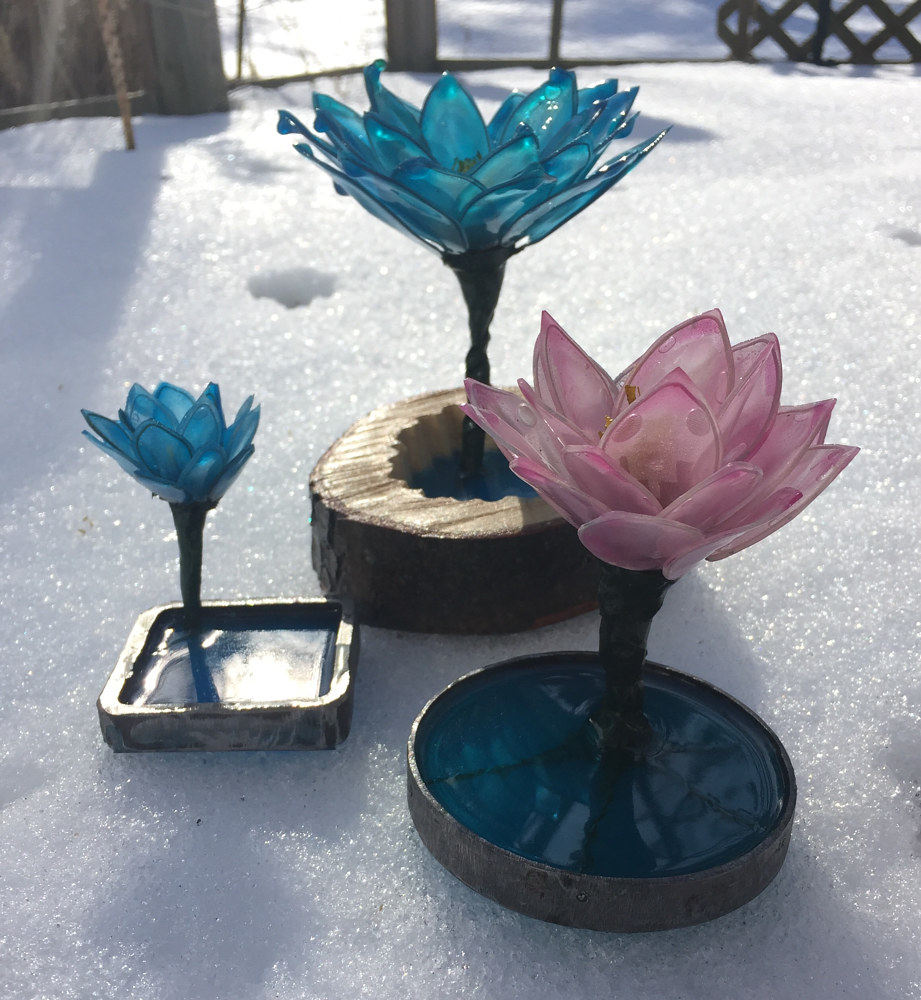 Blue Lotus, Pink Lotus #3, Blue Chipper Lotus by Steven Simmons