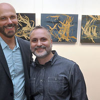 Michael and I at Gallery 19 Opening by Robert Porazinski
