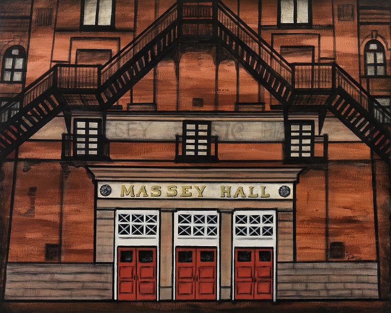Acrylic painting MASSEY MUSIC HALL by Carly Jaye Smith