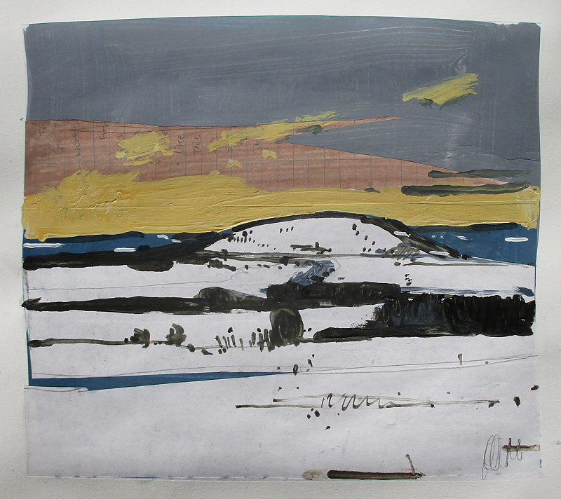 Acrylic painting Richardson's Hill, February 16 by Harry Stooshinoff