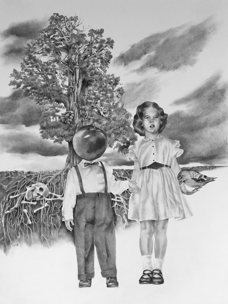 Drawing Marlene and Her Brother by Ellen Cornett