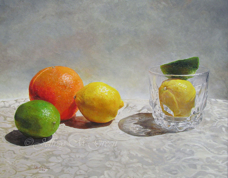 """Citrus 5"", 16x20"", oil painting. by Jeffrey Green"