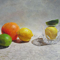 """Citrus 5"", 16"" x 20"", oil painting. by Jeffrey Green"