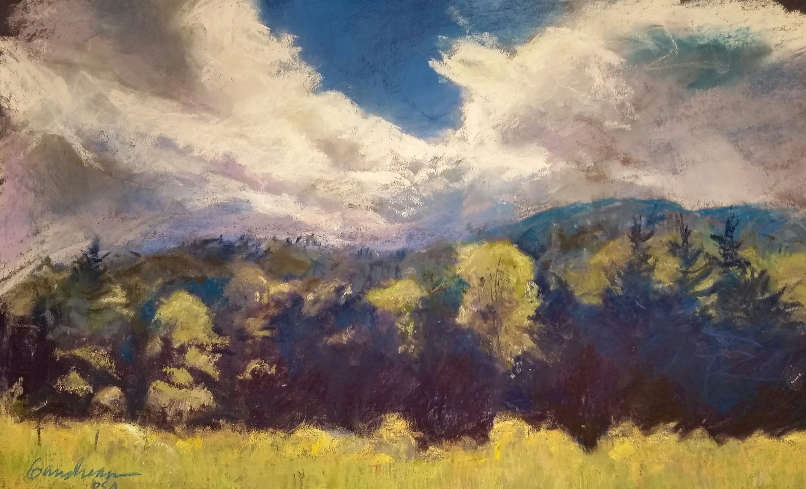 in the valley  11x17 pastel  by Michael  Gaudreau