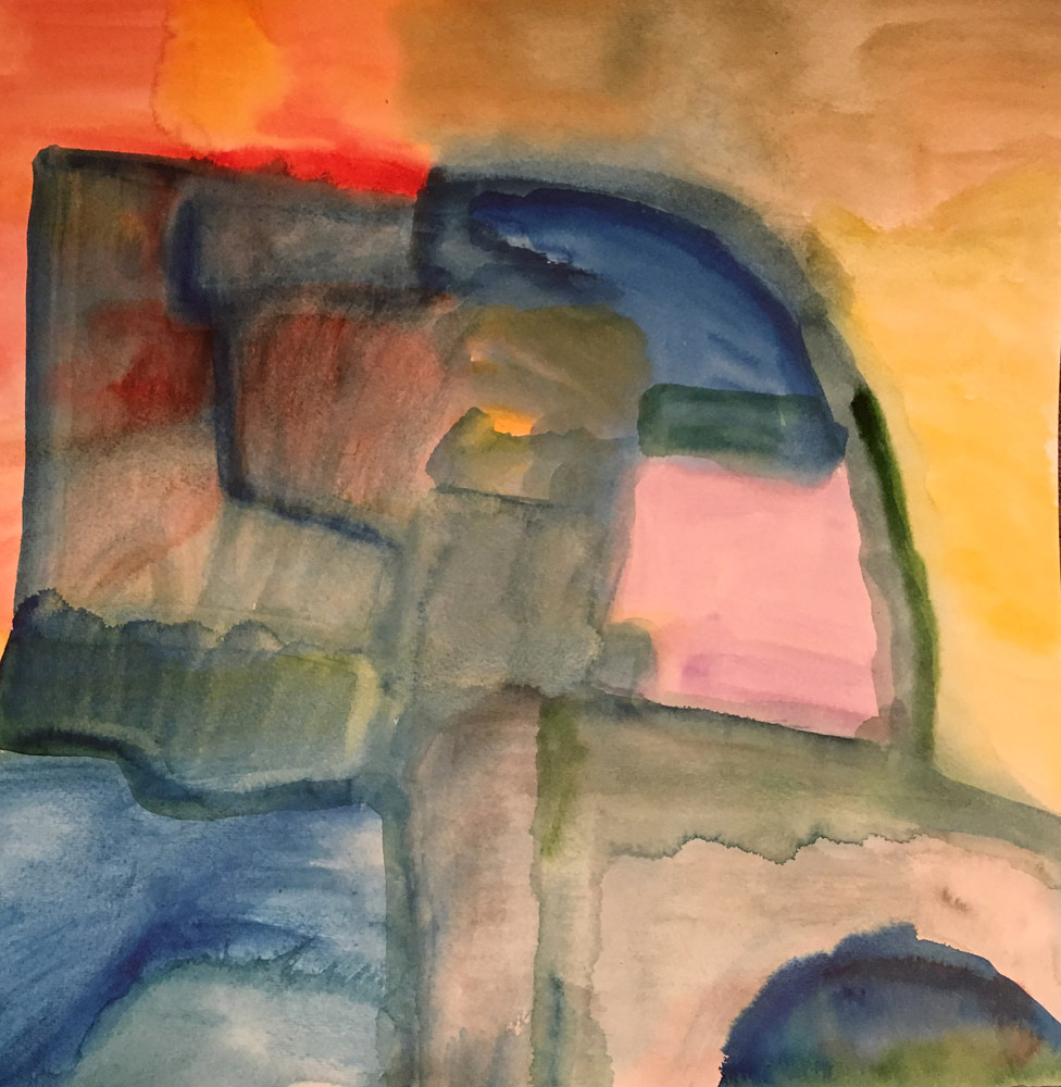 Watercolor In the Truck | Dans le Camion by Nathalie Gribinski