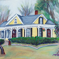 Oil painting Archer Florida house at 17122 SW 135th lane on Feb 11 by Michelle Marcotte