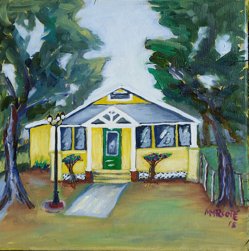 Oil painting Archer house at 16770 SW 137 Ave on Feb 11 by Michelle Marcotte