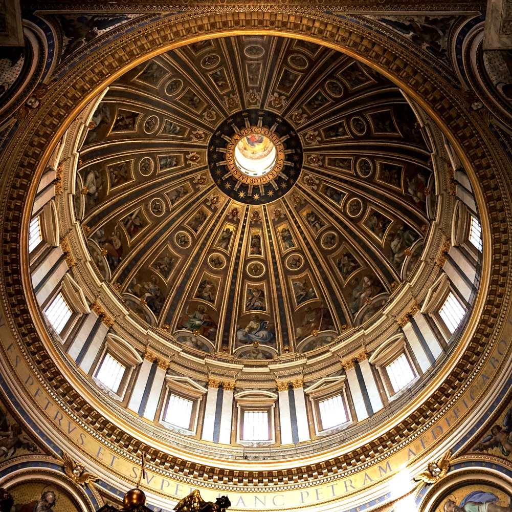 The dome of St. Peter's Basilica in the Vatican by Susan Raines
